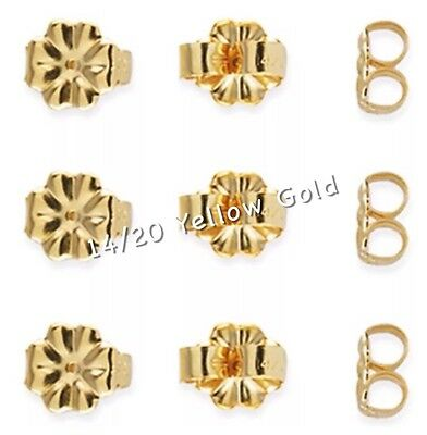 Gold Butterfly Earring Backs 14k Gold Filled Earring Clutches Posts Stamped x 3