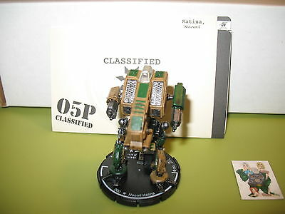 =Mechwarrior HIGHLANDERS Naomi Katina 133 Vulture with dossier 17 =