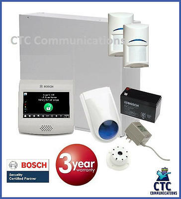 """Bosch Solution 2000 Alarm System with 2 x Gen 2 Quad Detectors+ 4"""" Touch Screen"""