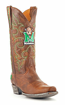 Gameday Boots Mens Brass Leather Marshall Cowboy Boots (10) Mrs-M178-1 New