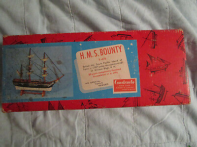 HMS BOUNTY, Constructo Wood Model Kit Maritime Series Spain VINTAGE