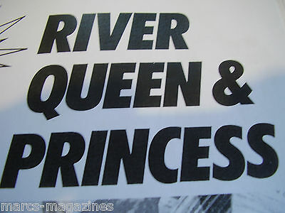 A Model Boat Double Plan On A3 River Queen River Princess