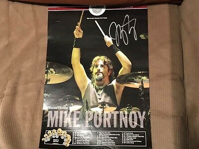 "Mike Portnoy 17x9"" rare Sabian Poster SIGNED!"