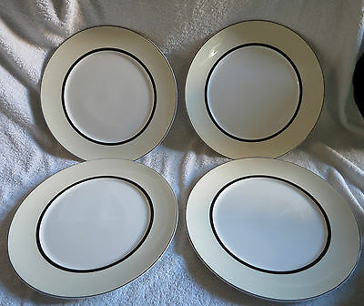 4 X Marks And Spencer Manhattan 11.25 Inch Dinner Plates