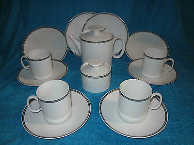 Thomas Rosenthal Tea Set Cups Saucers Teapot Plates Sugar Bowl Night And Day