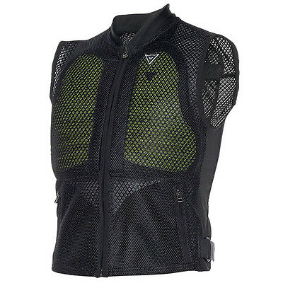 Dainese Body Guard Motorcycle Back & Chest Protector Vest - Black / Fluo Yel