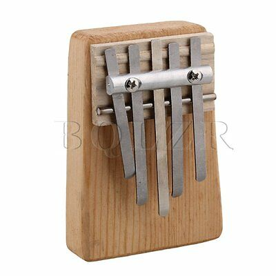BQLZR 5 Keys Wooden Africa Kalimba Mbira Finger Thumb Piano Wood Instrument