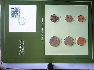Coin Sets of all Nations Falkland Islands 6 Coin set 1985