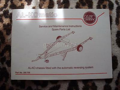 Genuine AL-KO Kober AL-KOmatic Chassis Service & Maintenance Instructions Book