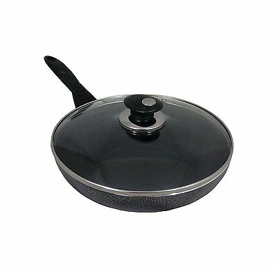 24cm INDUCTION Wok & Glass Lid with Long Handle