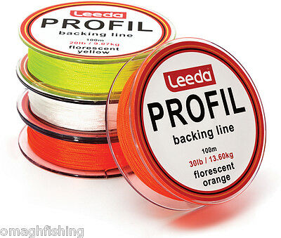 Leeda Profil Fly Line Backing Line 100m 20LB/30LB 3 Colours Trout/Salmon Fishing