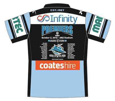 Cronulla Sharks 2016 Premiers Home Jersey Mens, Womens & Kids Sizes In Stock Now