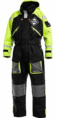 Fladen Flotation Suit, Warm, Waterproof  BLACK & YELLOW Large L