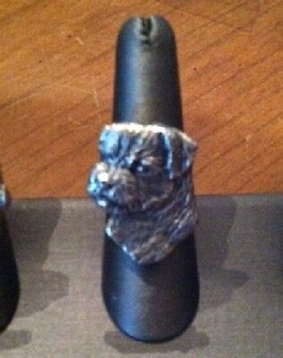 Border Terrier  RING~Awesomw headpiece/ adjustable band~pewter 1 Size