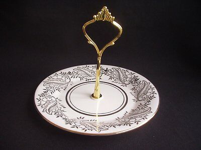 Vintage Cake Stand / Cupcake Plate ~Fine China ~22K Gold Decoration