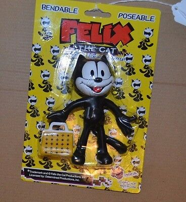 FELIX THE CAT  5.5 inch bendable poseable figure in pkg NEW old stock treasure