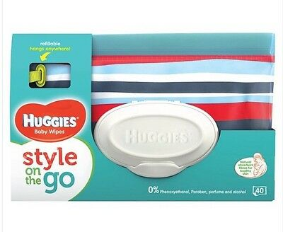 Huggies Style And Go Pouch. Wipes Included. UK SELLER
