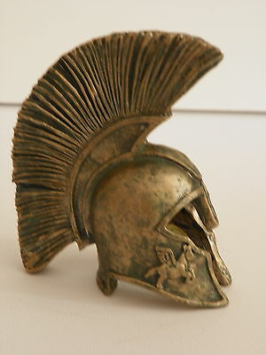 Spartan Warrior Army Helmet 3'' Greek Ancient Miniature Resin Decor Collectible