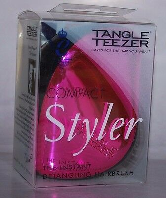 Tangle Teezer Compact Styler Rosa Brillo En Caja Original- Ideal Para El Bolso
