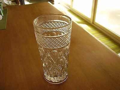 """Imperial Cape Cod Clear Glass 6 3/8"""" Flat Tumbler FREE SHIPPING"""