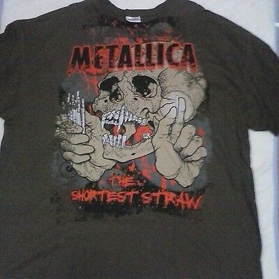 "RARE 90's ""The Shortest Straw""  LICENSED Concert T-Shirt Greyish Brown New 3XL"
