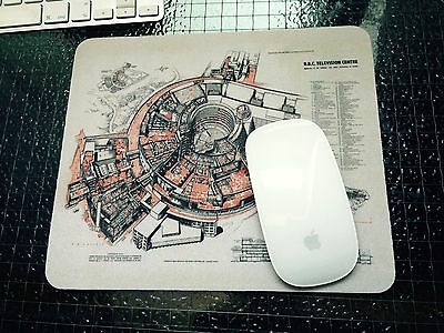 BBC Television Centre TVC Mouse Mat 1958 Architects drawing plan
