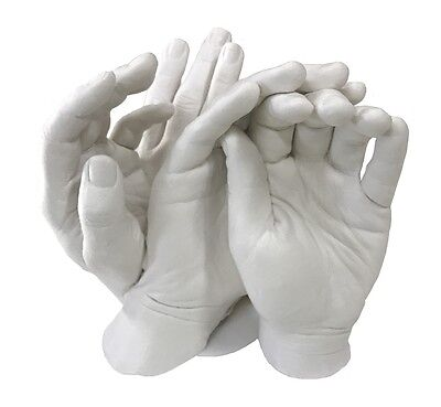 Family Hands Plaster Casting Kit. 1.1kg  Alginate,& 4kg of High Grade Plaster.