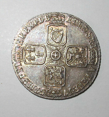 1757 George Ii Sixpence Very High Grade Lovely Lustre