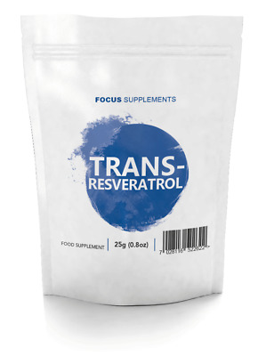 Trans-Resveratrol (Pure Powder)  *High Quality Powerful Antioxidant*  25/50/100