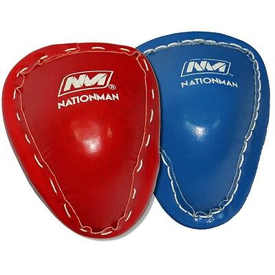 Muay Thai Kick Boxing Metal Groin Guard Leather cover Protector Supporter S-XL