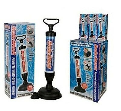 Multi Drain Buster Plunger Powerful Toilet Sink Clog Sucker Remover Bathroom New