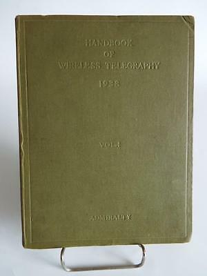 1943 Admiralty Handbook Of Wireless Telegraphy Vol 1 Magnetism & Electricity