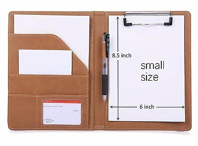 """6"""" X 8.5"""" Small Clipboard Folder for Writing Pad Refillable, Clipboard Padfolio,"""