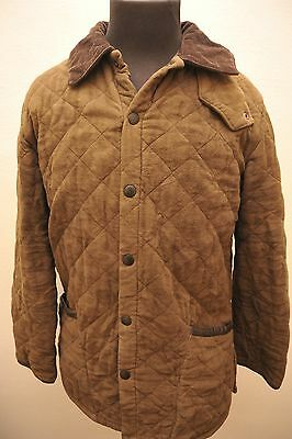 Rare Barbour Thick Quilted D2357 Liddlesdale Moleskin Jacket Small Green Fe19