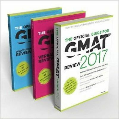The Official Guide for GMAT 2017 + Quantitative review + Verbal review