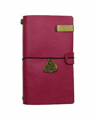 Sueroom-- Vintage Travelers Journal Refillable PU Leather Notebook Best Gift for