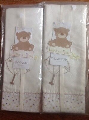 2x Mothercare Loved So Much Pillowcase's For A Cot...Bnip