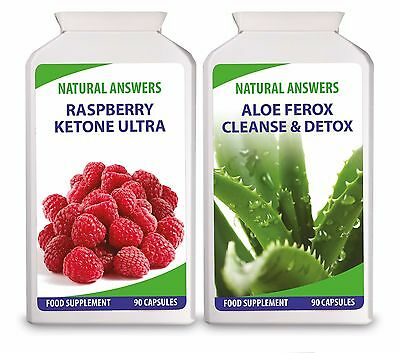 Raspberry Ketone Ultra And Aloe Ferox Cleanse and Detox Diet Pills 100% Natural