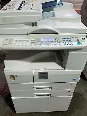 Ricoh MP 2000 copier with FAX, PRINT, AND SCAN! low meter!