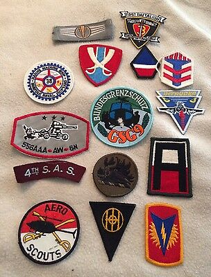 Military Patches Lot of 15 Army Navy Air Force Marines Lot 17