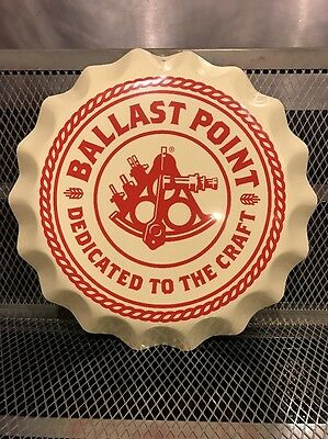 BALLAST POINT BREWERY ~ GIANT Bottle Cap NEW ~ Advertising Beer Sign Tacker