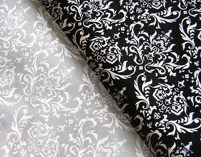 Damask Fabric Cotton fabric 2Colors Fat Quarter Quilting Curtain Damask Material