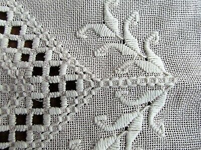 Vintage Italian Open work embroidery New unused Runner off White Light ecru exce