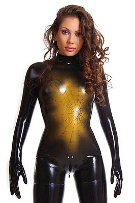 Anatomic Seamless Latex Catsuit wtih Glued Gloves and Stockings (Size XS - L)