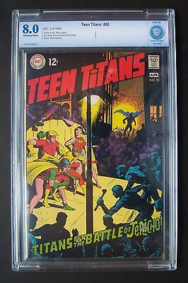 TEEN TITANS #20, DC Comics, CBCS not CGC 8.0 grade, Nick Cardy cover, Neal Adams