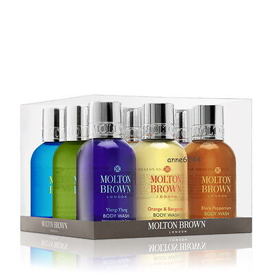Molton Brown THE GLOBAL BODY WASH COLLECTION 9 x 50ml - SENT IN DOUBLE WALL BOX