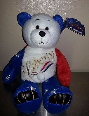 Limited Treasures 'LIberty' Teddy Bear, New with Tag