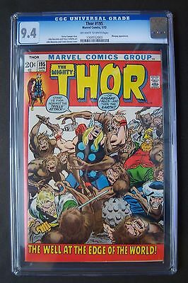 The Mighty THOR #195, Marvel Comics, CGC 9.4 grade, Mangog appearance, Buscema
