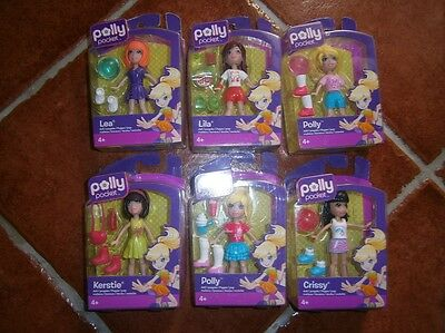Polly Pocket Dolls With Accessories - Polly, Crissy, Kerstie, Lila and Lea - NEW