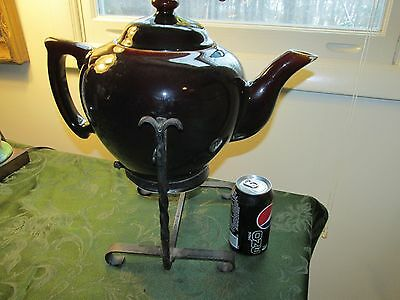 HUGE SCAMMELL UNIQUE DISPLAY OR PRESENTATION TEAPOT HAND WROUGHT IRON Stand